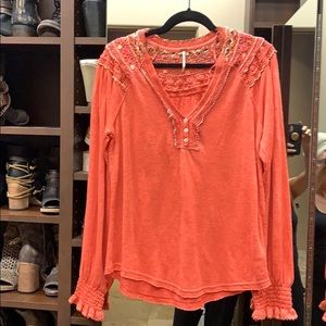 Free People Siesta boho tee